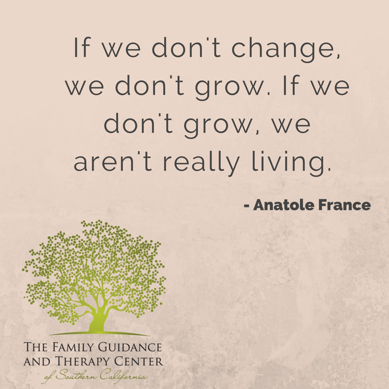 If we don't change, we don't grow. If we don't grow, we aren't really living. - Anatole France