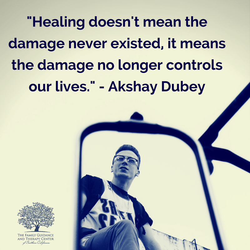 Healing doesn't mean the damage never existed. It means the damage no longer controls our life. - Akshay Dubey